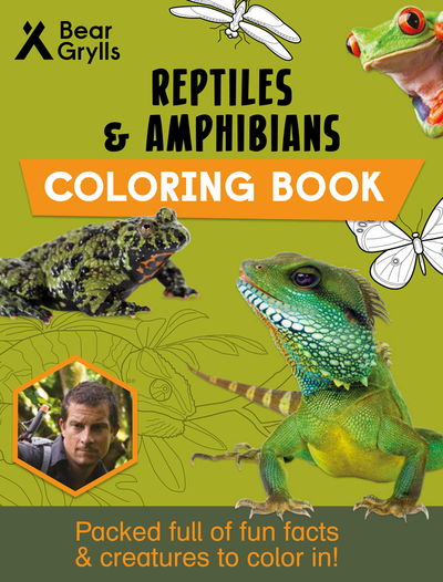 Reptiles & Amphibians Coloring Book cover